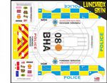 Police Forensic Services themed vinyl SKIN Kit & Stickers To Fit Tamiya Lunchbox R/C Monster Truck